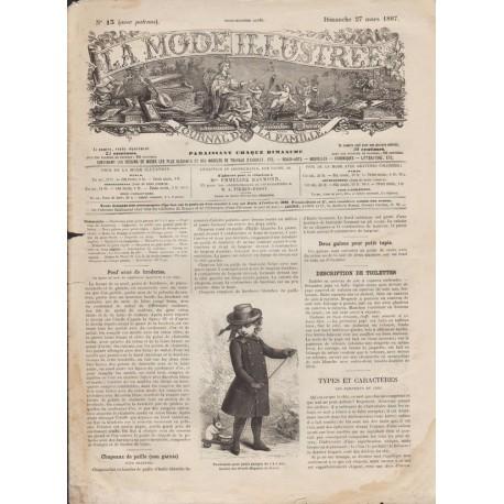 Revue complète de La Mode Illustrée 1887 N°13