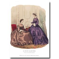 Gravure La Mode Illustrée 1862 0