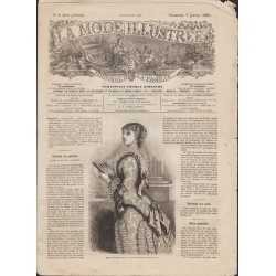 La Mode Illustrée 1883 N°01 1ère page