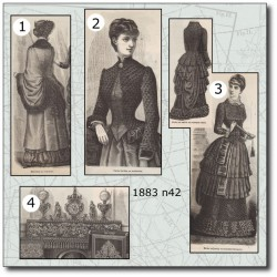 Sewing patterns La Mode Illustrée 1883 N°42