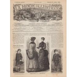 La Mode Illustrée 1883 N°42 1ère page