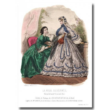 fashion plate La Mode Illustrée 1862 12