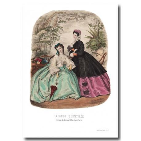 fashion plate La Mode Illustrée 1862 22