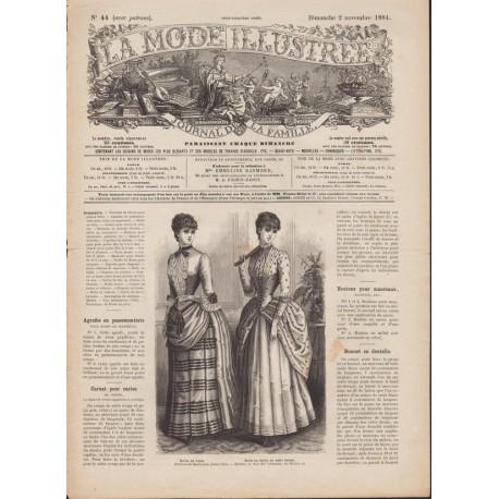 Complete magazine La Mode Illustrée 1884 N°44