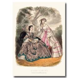 Gravure La Mode Illustrée 1862 24