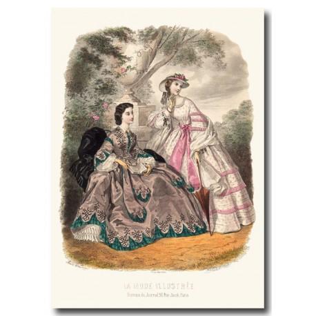 fashion plate La Mode Illustrée 1862 24