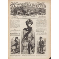 La Mode Illustrée 1884 N°31 1ère page