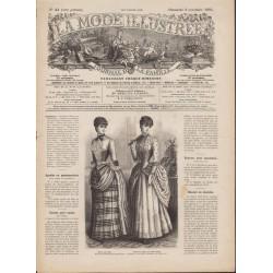 La Mode Illustrée 1884 N°44 1ère page