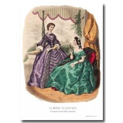 Gravure La Mode Illustrée 1862 25