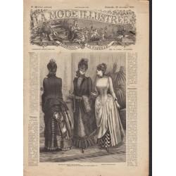 La Mode Illustrée 1884 N°52 1ère page