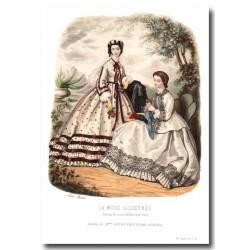 Gravure La Mode Illustrée 1862 31