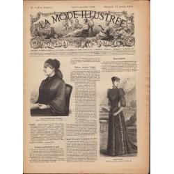 La Mode Illustrée 1892 N°03 1ère page