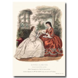 Gravure La Mode Illustrée 1862 34