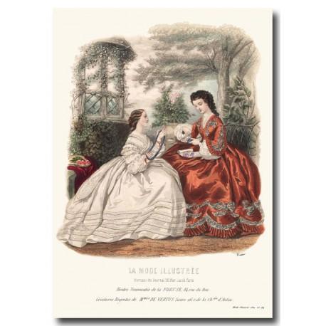 fashion plate La Mode Illustrée 1862 34