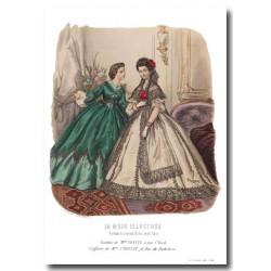 Gravure La Mode Illustrée 1862 44