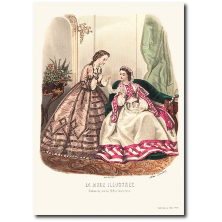 fashion plate La Mode Illustrée 1862 51