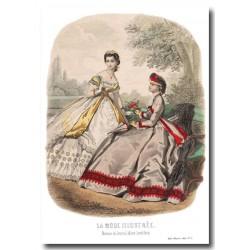 Gravure La Mode Illustrée 1864 34