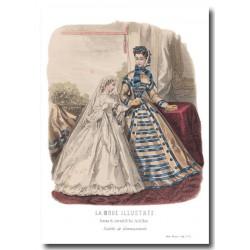 Gravure La Mode Illustrée 1864 12