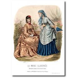 Gravure La Mode Illustrée 1872 18