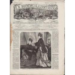 La Mode Illustrée 1873 N°36 1ère page