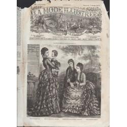 La Mode Illustrée 1873 N°40 1ère page