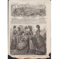 La Mode Illustrée 1875 N°40 1ère page