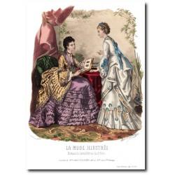 Gravure La Mode Illustrée 1872 29