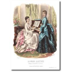 Gravure La Mode Illustrée 1872 40