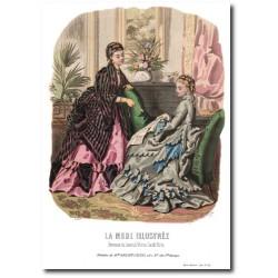 Gravure La Mode Illustrée 1872 46