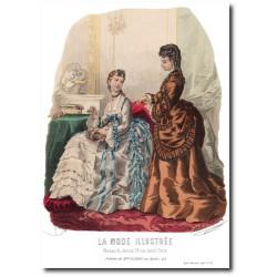 Gravure La Mode Illustrée 1873 12