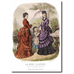 Gravure La Mode Illustrée 1873 15