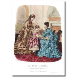 Gravure La Mode Illustrée 1873 18