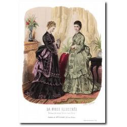 Gravure La Mode Illustrée 1873 19
