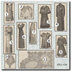 Patrons de La Mode Illustrée 1911 N°24