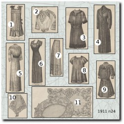Sewing patterns La Mode Illustrée 1911 N°24