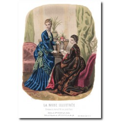 Gravure La Mode Illustrée 1873 21