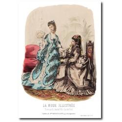 Gravure La Mode Illustrée 1873 26