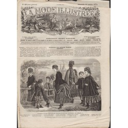 La Mode Illustrée 1874 N°42 1ère page