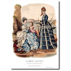 Gravure La Mode Illustrée 1873 36