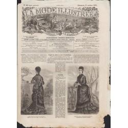 La Mode Illustrée 1875 N°42 1ère page