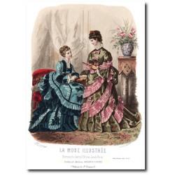 Gravure La Mode Illustrée 1873 43