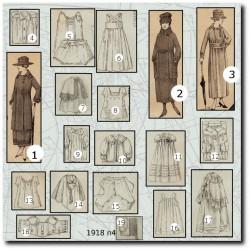 Patrons de La Mode Illustrée 1918 N°04