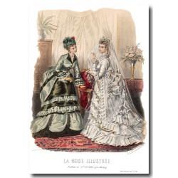 Gravure La Mode Illustrée 1873 46