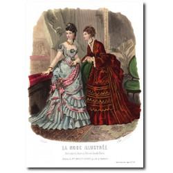 Gravure La Mode Illustrée 1873 52
