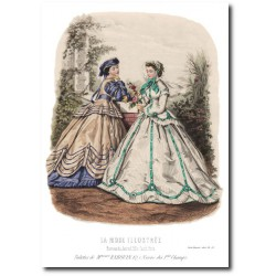 Gravure La Mode Illustrée 1865 33