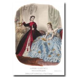 Gravure La Mode Illustrée 1865 3