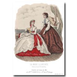 Gravure La Mode Illustrée 1865 29