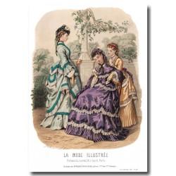 Gravure La Mode Illustrée 1870 40