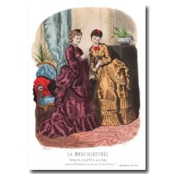 Gravure La Mode Illustrée 1870 42