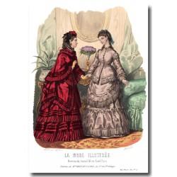 Gravure La Mode Illustrée 1870 45